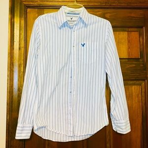 American Eagle Authentic Striped Button Down Shirt